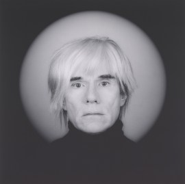 Robert Mapplethorpe, Andy Warhol, 1986. Gelatin silver print, image: 19 1/4 x 19 1/4 inches (48.9 x 48.9 cm); sheet: 23 7/8 x 19 7/8 inches (60.6 x 50.5 cm)