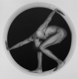 Robert Mapplethorpe, Thomas, 1987. Gelatin silver print, image: 19 1/4 x 19 3/16 inches (48.9 x 48.7 cm); sheet: 23 3/4 x 19 13/16 inches (60.3 x 50.3 cm)
