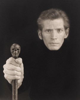 Robert Mapplethorpe, Self Portrait, 1988. Platinum-palladium print, image: 23 1/8 x 19 1/16 inches (58.7 x 48.4 cm); sheet: 26 3/4 x 22 5/8 inches (67.9 x 57.5 cm)