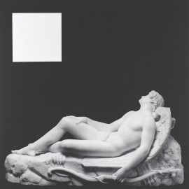 Robert Mapplethorpe, Sleeping Cupid, 1989. Gelatin silver print, 20 3/8 x 20 1/4 inches (51.7 x 51.5 cm)