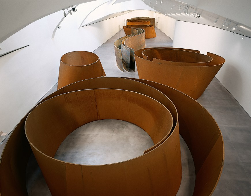 Richard Serra, The Matter of Time, 2005. Installation of seven sculptures, weatherproof steel, Varying dimensions