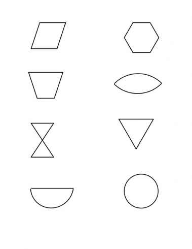 Image of shapes chart for kids vector isolate on white | Stock ...