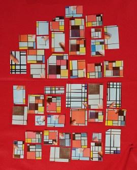Sara Cwynar, Encyclopedia Grid (Art abstrait), 2014. Impression chromogène, 40 x 32 pouces (101,6 x 81,3 cm)