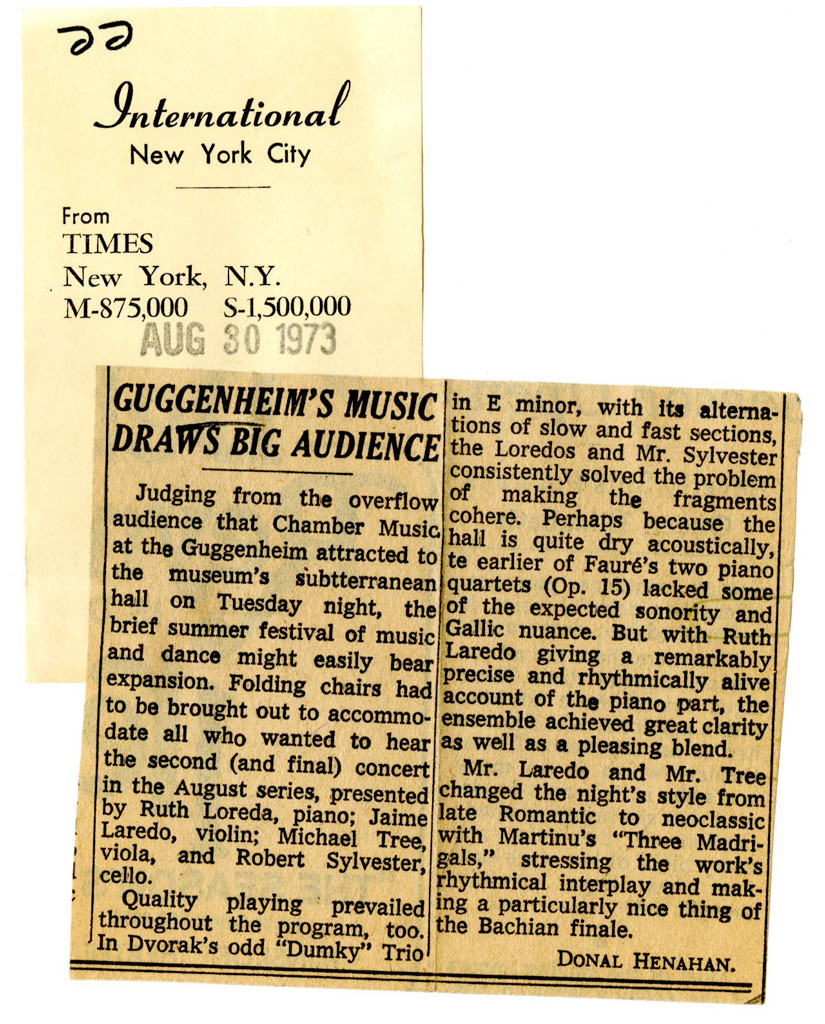 In 1973, The Guggenheim Said Farewell To Summer With Music