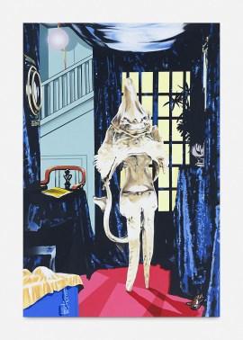 Jamian Juliano-Villani, Haniver Jinx, 2015. Acrylique sur toile, 91,4 x 61,1 x 4 cm (36 x 24 1/16 x 1 9/16 pouces)