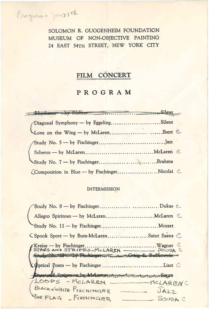 Programs From A Series Of S Film Concerts