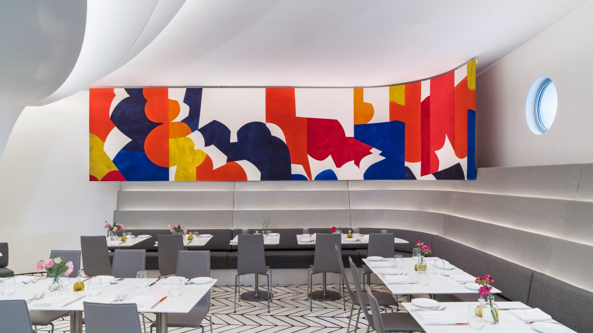 Sarah Crowner s installation at The Wright  Solomon R  Guggenheim Museum   New York. About Us