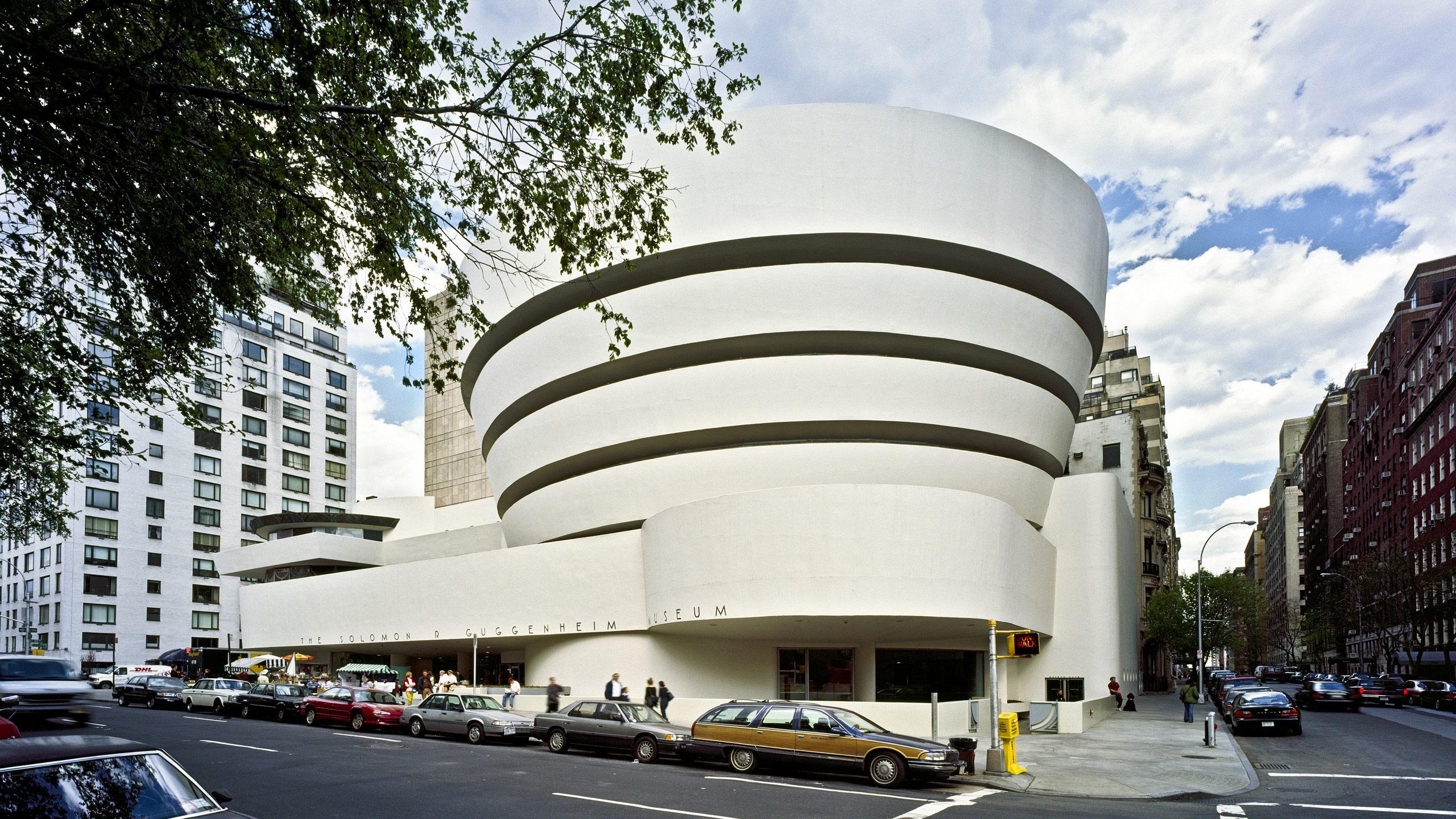 Exterior View Of The Solomon R. Guggenheim Museum ...