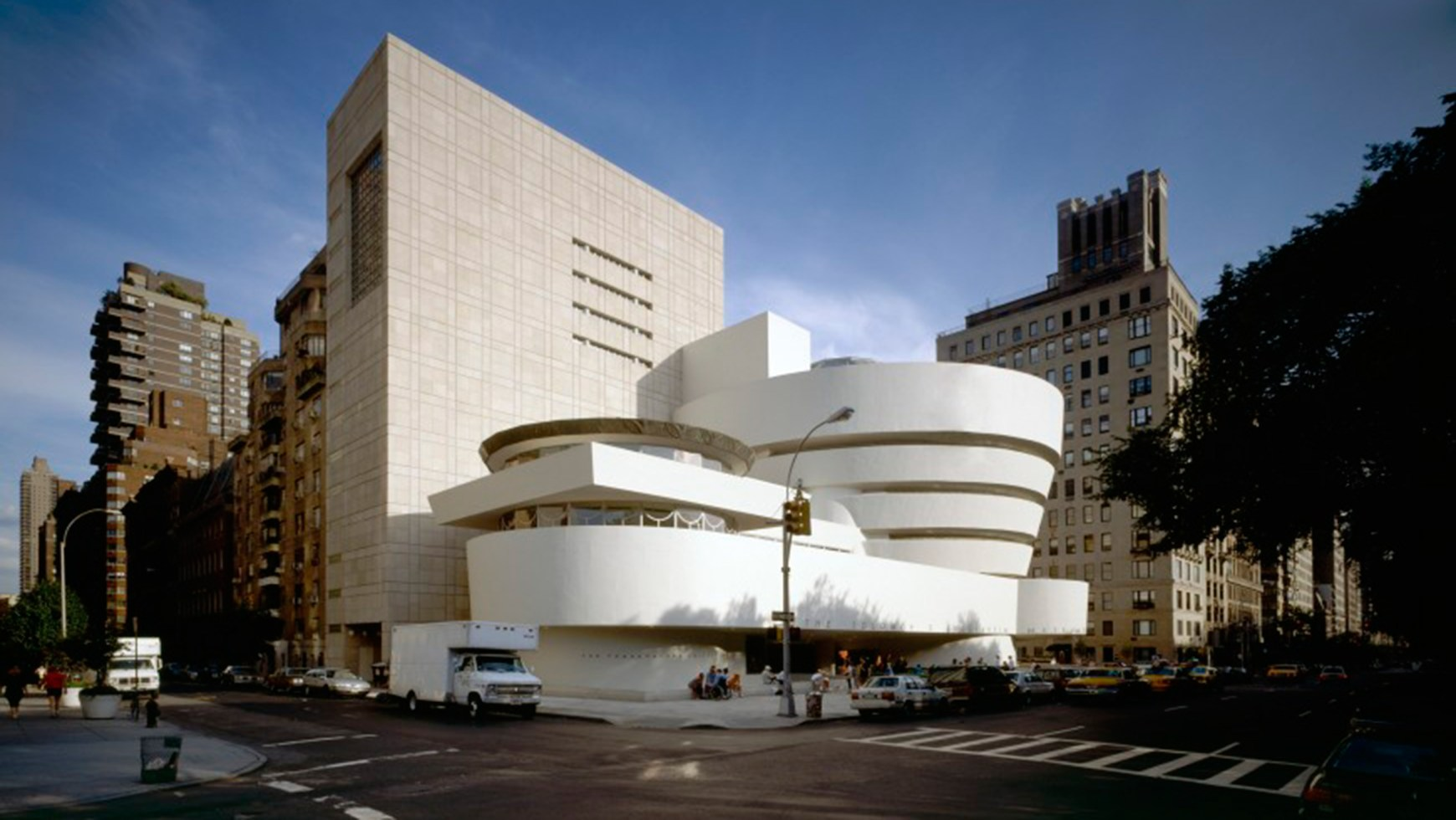 Exterior view of the Solomon R. Guggenheim Museum