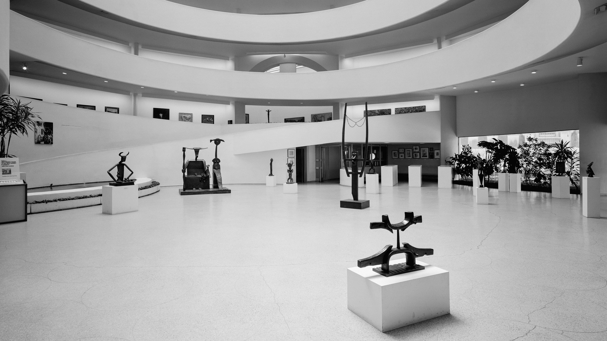 Installation view, Max Ernst: A Retrospective, Solomon R. Guggenheim Museum, New York, February 14–April 20, 1975.