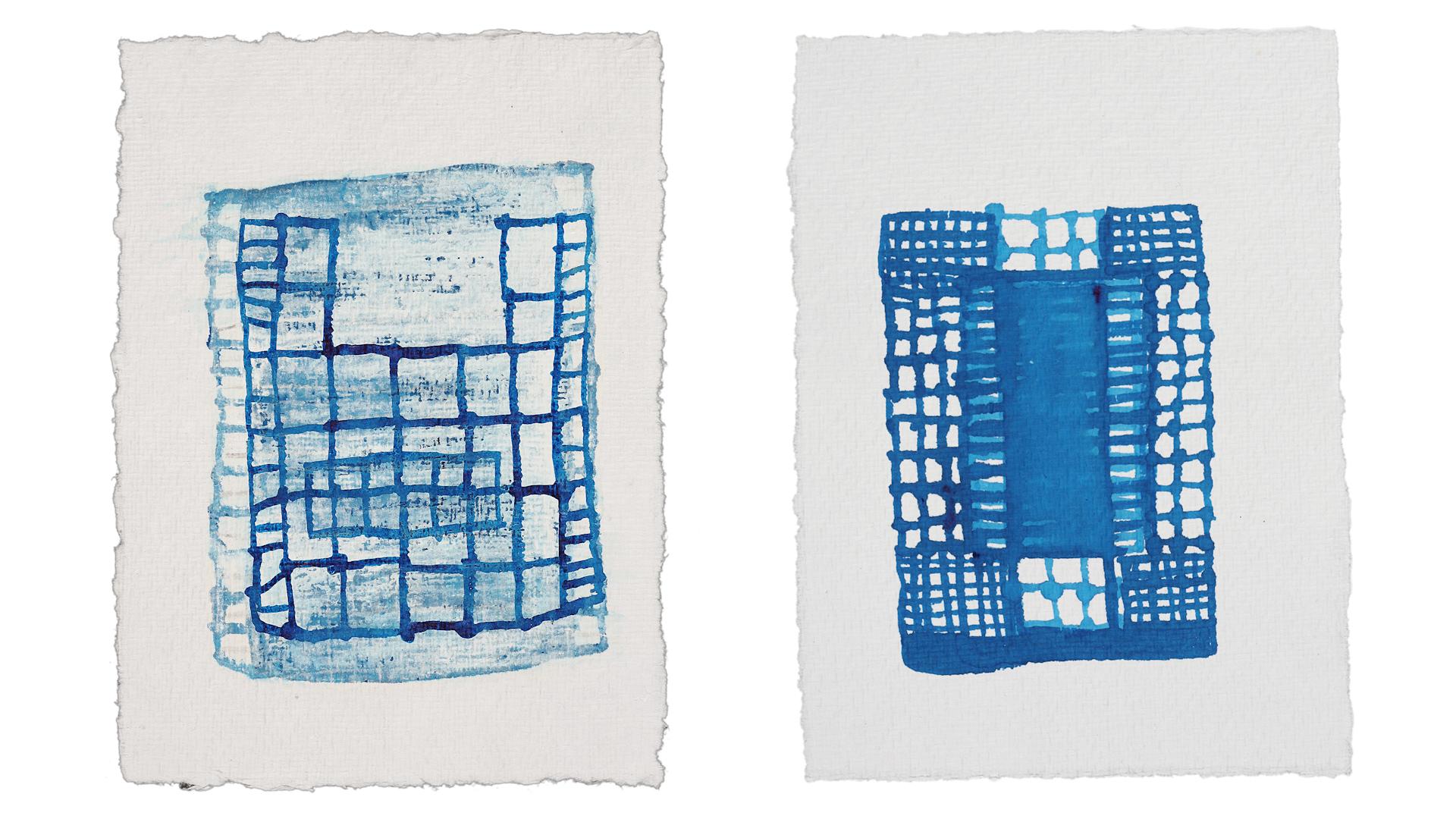 Drawings by Susan Hefuna