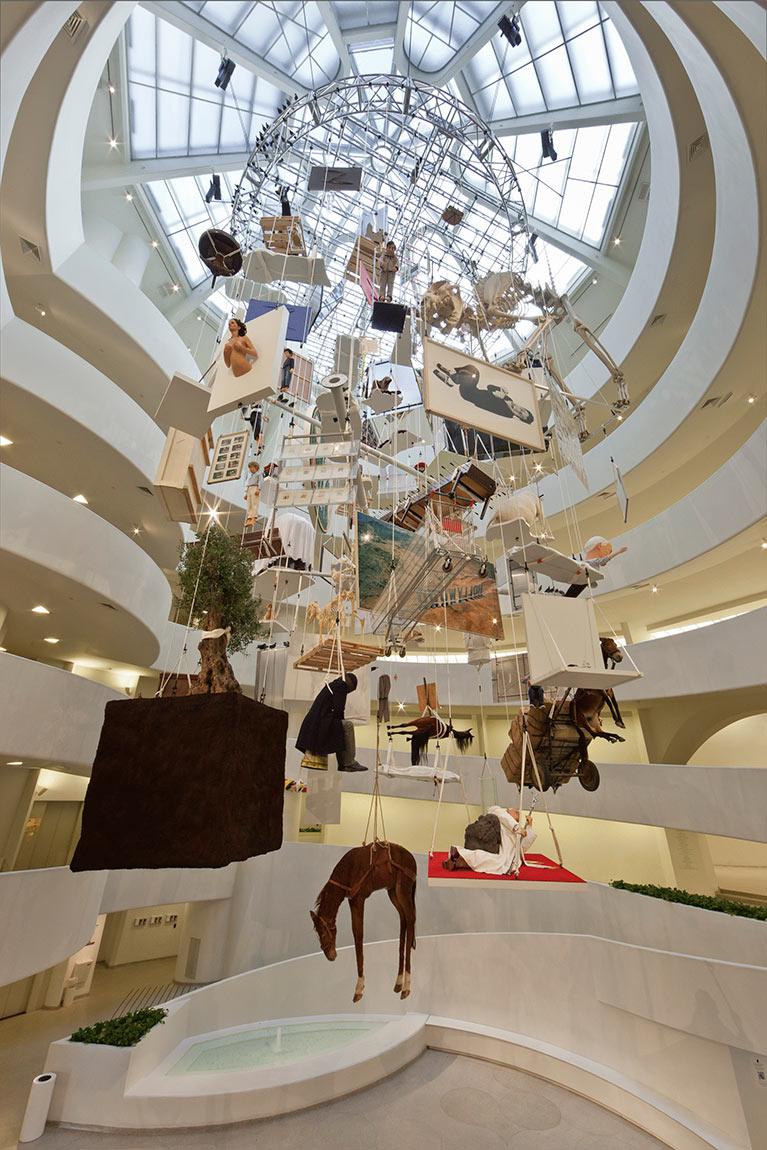 Installation View Maurizio Cattelan All Solomon R Guggenheim Museum New York