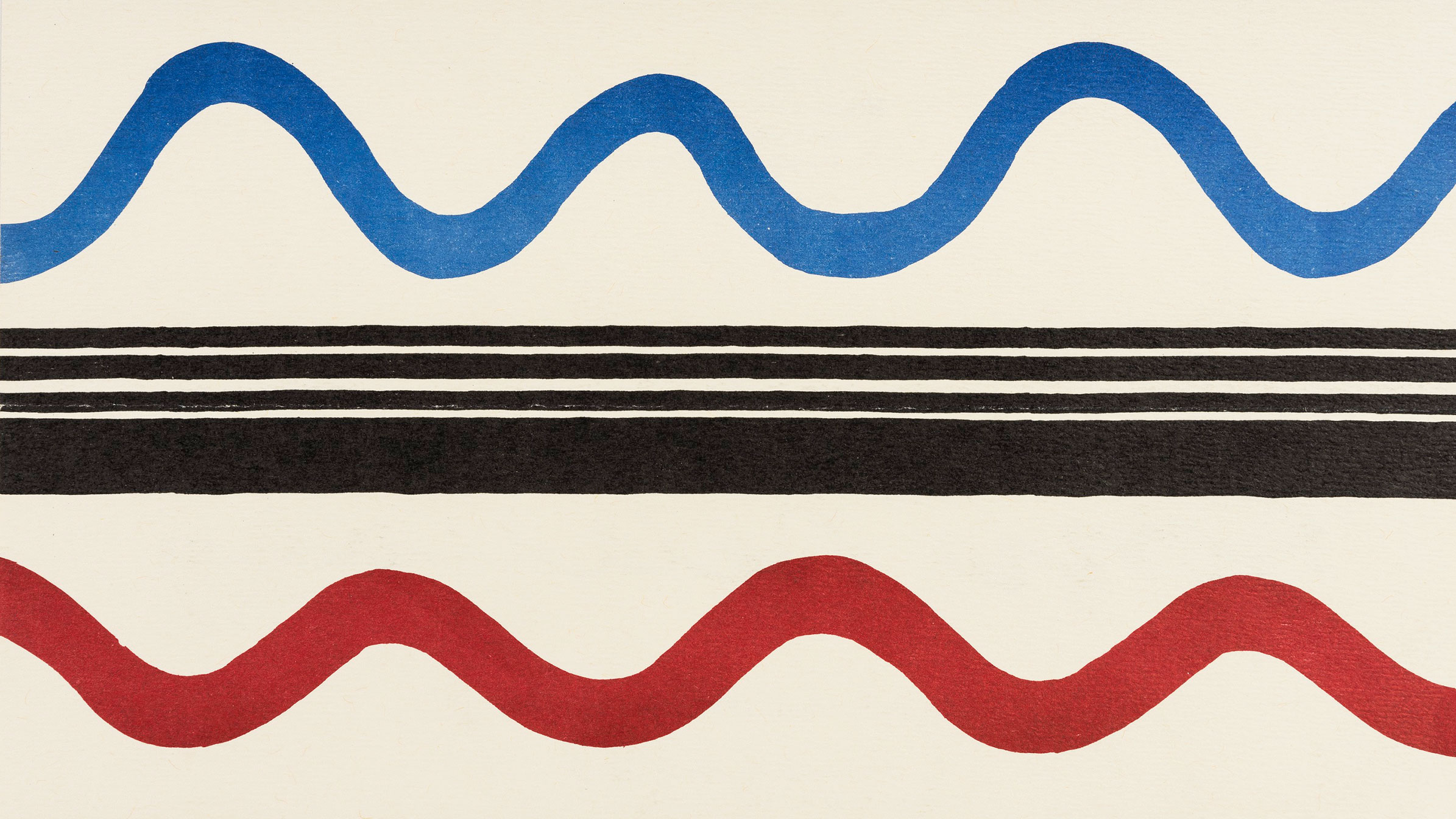 Detail: Announcement for the exhibition Sonia Delaunay, Albright-Knox Art Gallery, 1981. Guggenheim Library & Archives