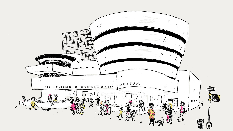 The Solomon R. Guggenheim Museum, New York. Image © 2017 Joana Avillez/Illustration Division