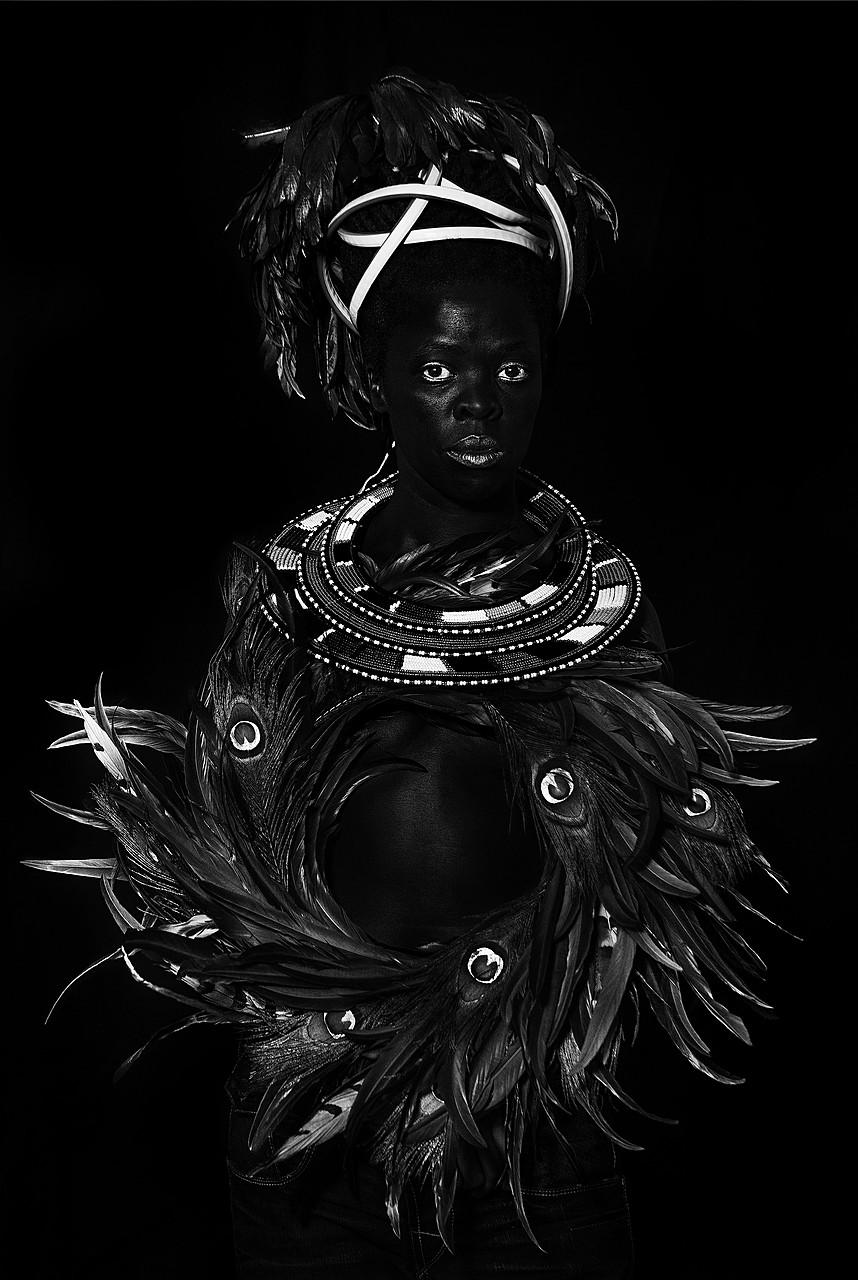 Zanele Muholi, Ngwane I, Oslo, 2018. Gelatin silver print, 39 3/8 x 27 9/16 inches (100 x 70 cm)