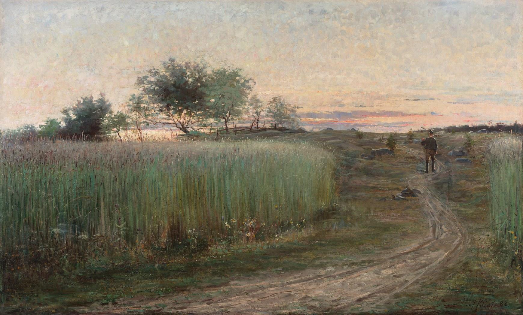 Hilma af Klint, Summer Landscape (Sommarlandskap), 1888. Oil on canvas, 88 x 148 cm. Dorsia Hotel, Gothenburg, Sweden. Photo: Albin Dahlström, Moderna Museet, Stockholm