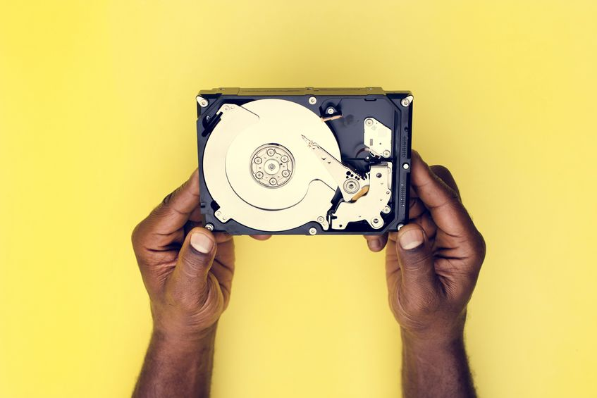 Holding a HDD