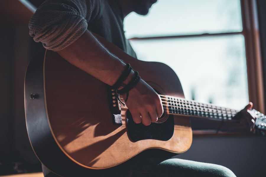 guy with a guitar