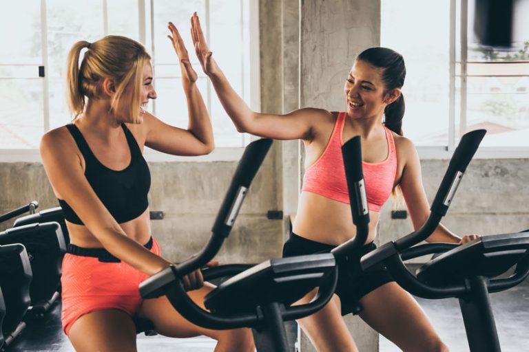girls doing spinning