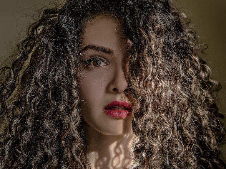 curly beautiful girl