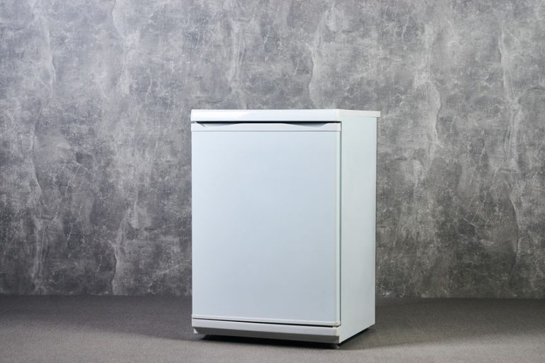 white small freezer