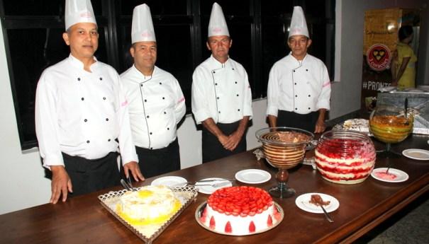 A ilha montada pela Sweet Cake foram os homenageados como os melhores Buffet de Brasília