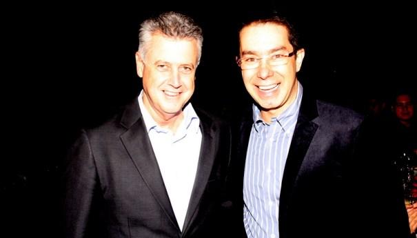 O candidato ao Governo do DF e Senador Rodrigo Rollemberg e o presidente do grupo Associados Assis chateaubriand, Correios Braziliense