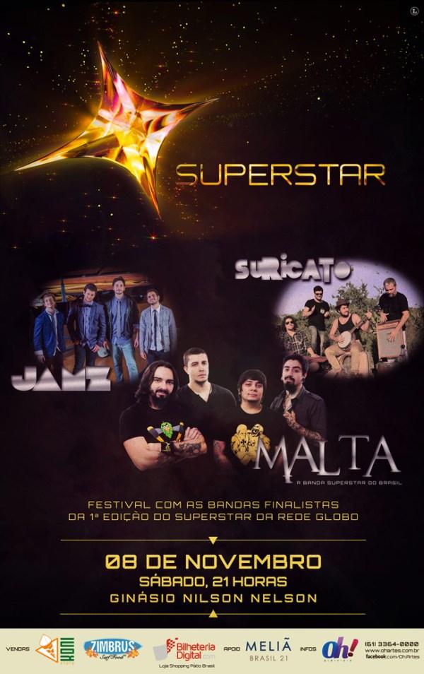 Festival Superstar, com Suricato, Jamz e Malta - Guia BSB.net