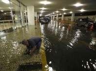 Chapelaria do Congresso Nacional alagada após a forte chuva que atingiu Brasília na noite de terça-feira (Foto: Dida Sampaio/Estadão Conteúdo)