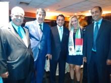 Srs Embaixador do Qatar, Palestina, Kuaite, Vanessa, Egito. Estiveram presentes