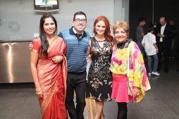 Lakshimi Srivastava, Bruno, Luciana de Ávila e Luzia Câmara Foto: Michelle Bartlett