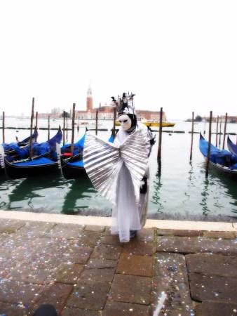O famoso Arlequim no carnaval de Veneza