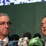 Cunha promete retardar matérias do Senado se Renan atrasar terceirização