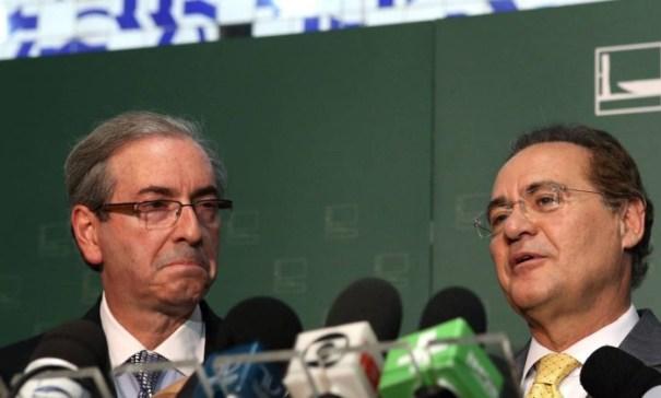 Eduardo Cunha promete retardar matérias do Senado se Renan Calheiros atrasar projeto de terceirização - Foto: Internet