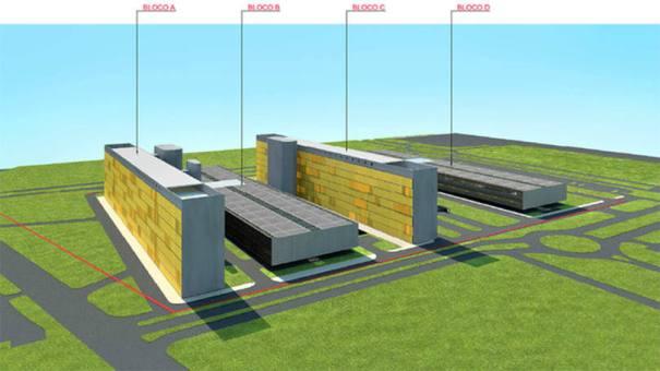 Projeção de como será o novo complexo da Câmara dos Deputados - Divulgação/ Câmara dos Deputados