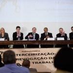 Terceirização nas atividades-fim é condenada em audiência da CDH