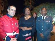 Marcelo Abdon, Embaixatriz dos Camarões, Laura Mbeng, Valdério, da área internacional do Corpo de Bombeiros