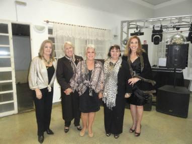 As companheiras da nova Diretoria, Elenice, Rose, Magda, Celia Dalva