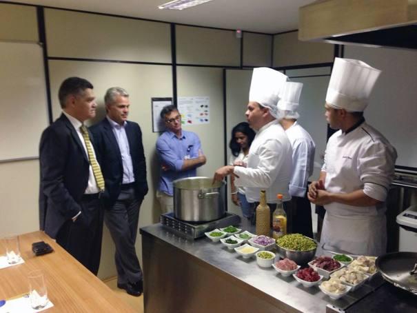 Aula-show do curso de Gastronomia do SENAC Brasília. Crédito foto: SENAC