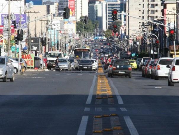 Avenida Comercial em Taguatinga, no Distrito Federal (Foto: Toninho Tavares/GDF/Divulgação)