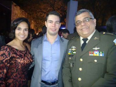 Dr. Adilson Farrapeira Jr, Cirurgião Plástico, Bruna Martins Esquenazi, Coronel Manuel Toledo, Adido da Defesa e Militar da Embaixada da Guatemala