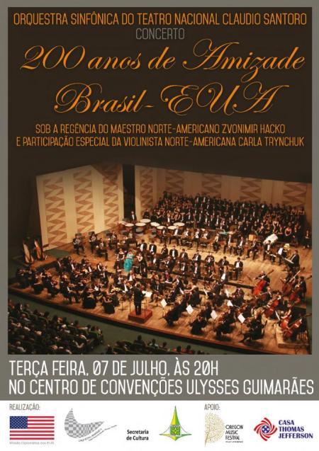 Concerto 200 anos de amizade entre Brasil e Estados Unidos