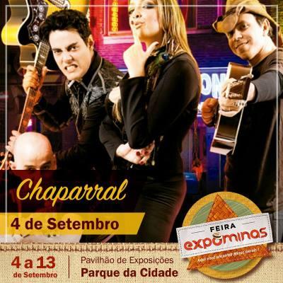 Grupo Chaparral se apresenta hoje, 04/09, na Expominas