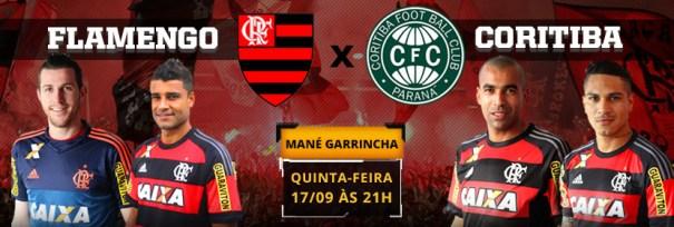 Mané Garrincha recebe Flamengo x Coritiba no dia 17 de setembro, pela 26ª rodada