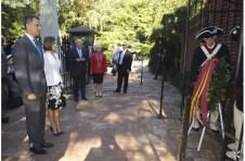 O rei Felipe e a rainha Letizia em Virgínia