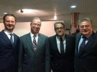 Sr. Embaixador da Sérvia, Veljko Lazic, Carlos Vieira Jr, Chefe Cerimonial CLDF, Sr. Embaixador da Turquia, Huseyin Dlrloz