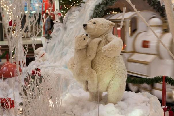 Decoração de Natal Ursos Polares - Boulevard Shopping