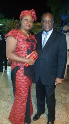 Sra Embaixatriz Laura Mbeng e o Sr. Embaixador de Camarões