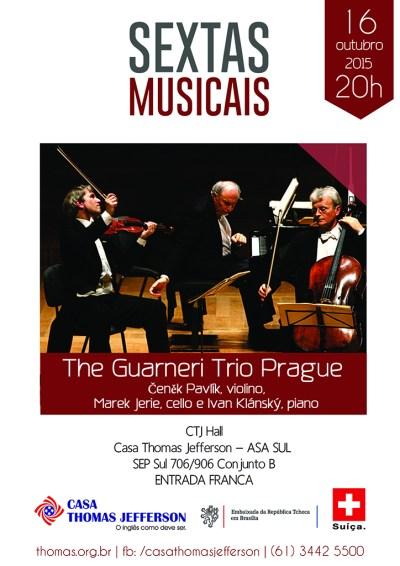 The Guarnieri Trio Prague apresenta-se na Casa Thomas Jefferson