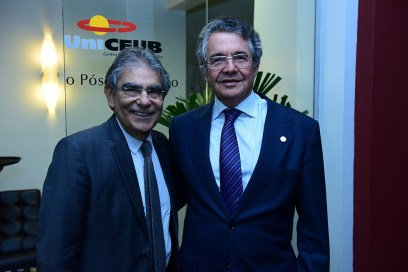 Ministro Ayres Britto e o Ministro do STF e presidente do IUC, Marco Aurélio Mello